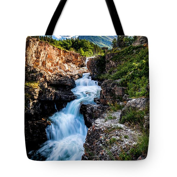Swiftcurrent Falls Tote Bag