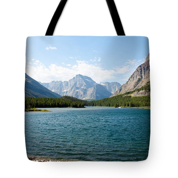 Swiftcurrent Lake Tote Bag by John M Bailey