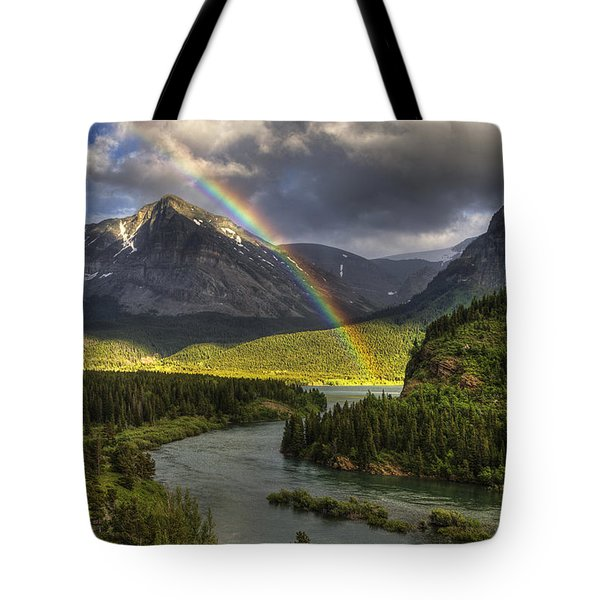 Swiftcurrent River Rainbow Tote Bag