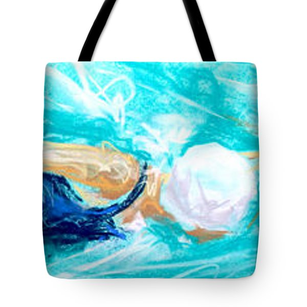 Swimmer Tote Bag by Vanessa Montenegro