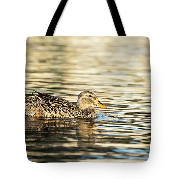 Swimming At Sunset Tote Bag by Scott Pellegrin