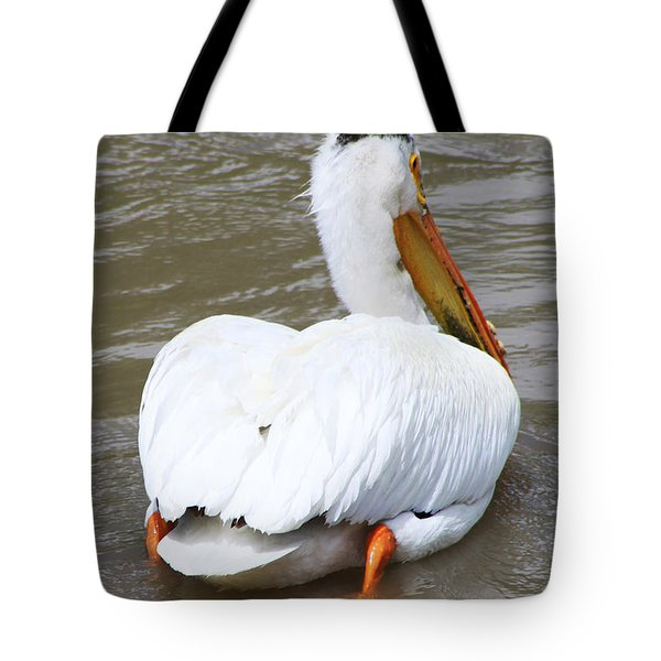 Tote Bag featuring the photograph Swimming Away by Alyce Taylor