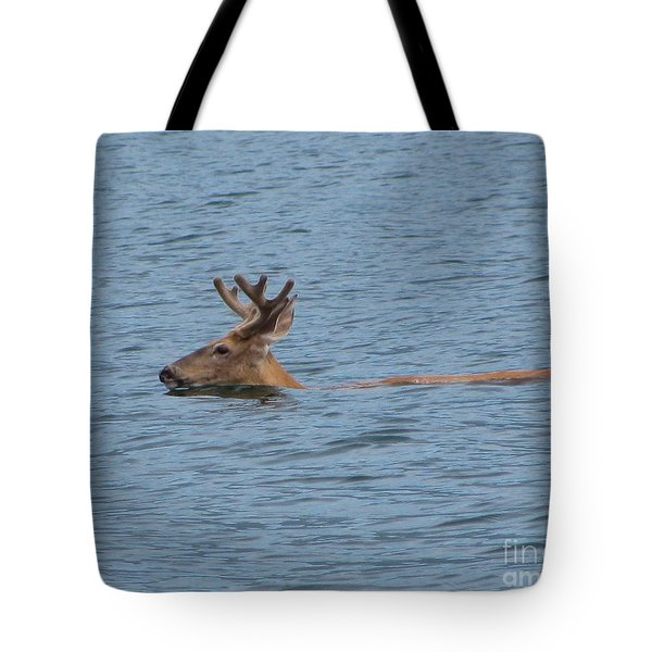 Swimming Deer Tote Bag