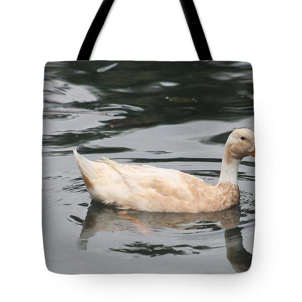 Swimming Duck Tote Bag by Pamela Walton