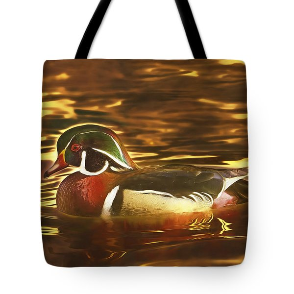 Swimming In A Sea Of Gold  Tote Bag
