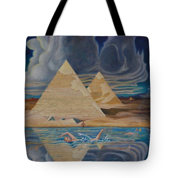 Swimming In That River In Egypt Tote Bag
