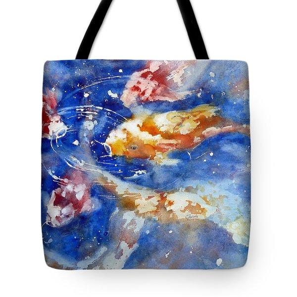 Swimming Koi Fish Tote Bag