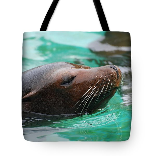 Swimming Sea Lion Tote Bag by DejaVu Designs