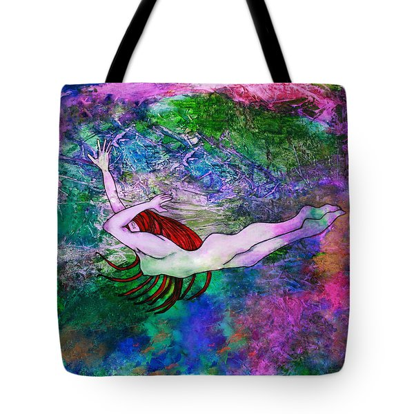 Underwater Swimmer Tote Bag