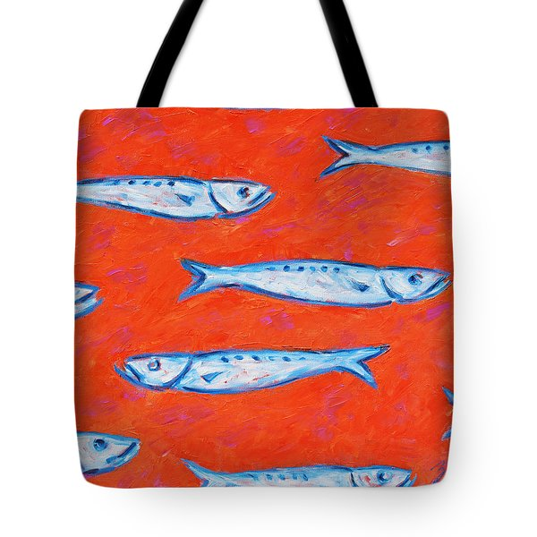 Swimming Upstream Tote Bag