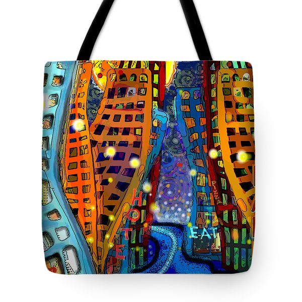 Swing City Tote Bag by Carol Jacobs