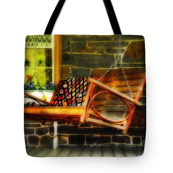 Swing Me Tote Bag by Lois Bryan