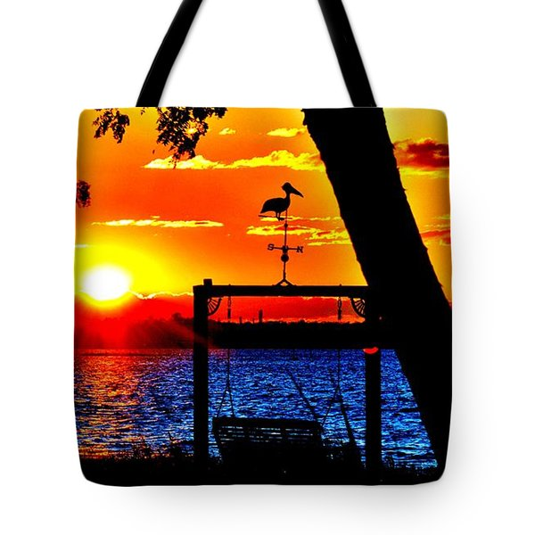 Swing Set Tote Bag
