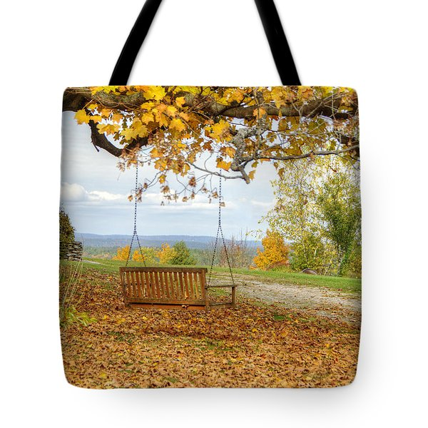 Swing With A View Tote Bag
