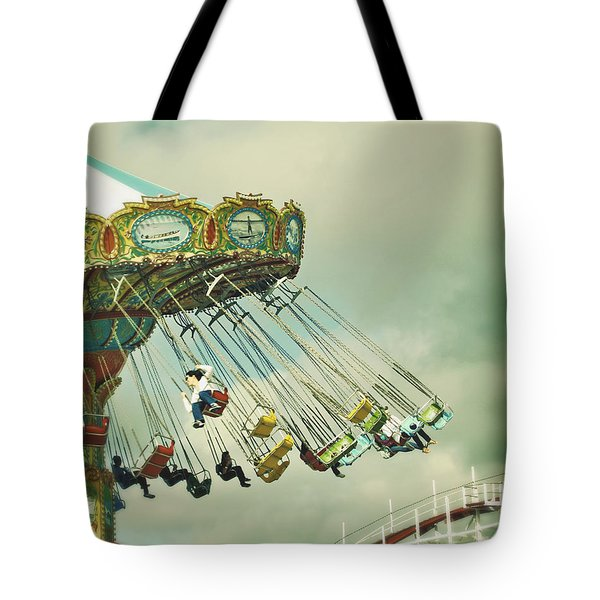 Swingin' - Santa Cruz Boardwalk Tote Bag