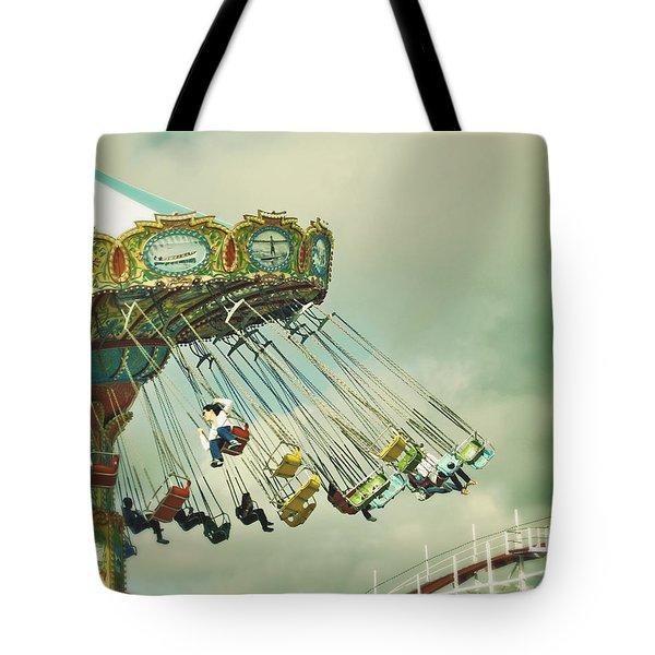 Swingin' - Santa Cruz Boardwalk Tote Bag