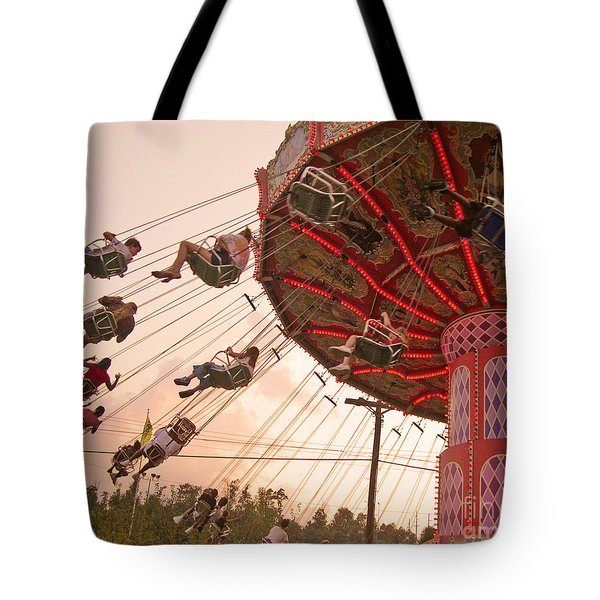 Swings At Kennywood Park Tote Bag