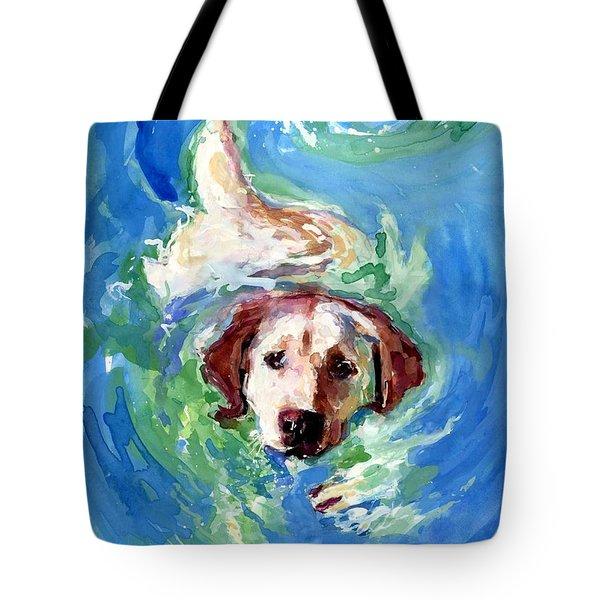 Swirl Pool Tote Bag by Molly Poole