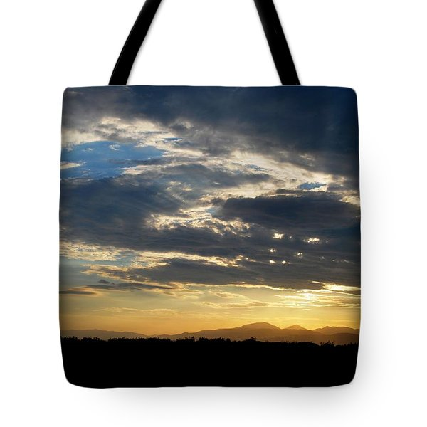 Tote Bag featuring the photograph Swirl Sky Landscape by Matt Harang