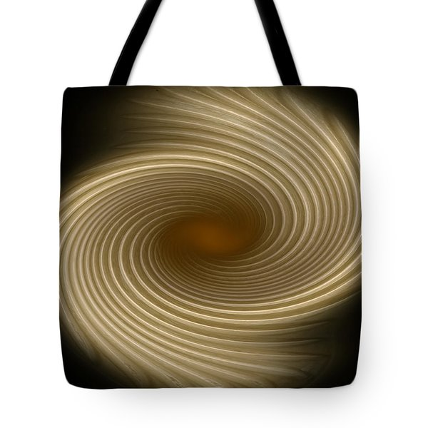 Tote Bag featuring the photograph Swirling Abstract Design by Charles Beeler