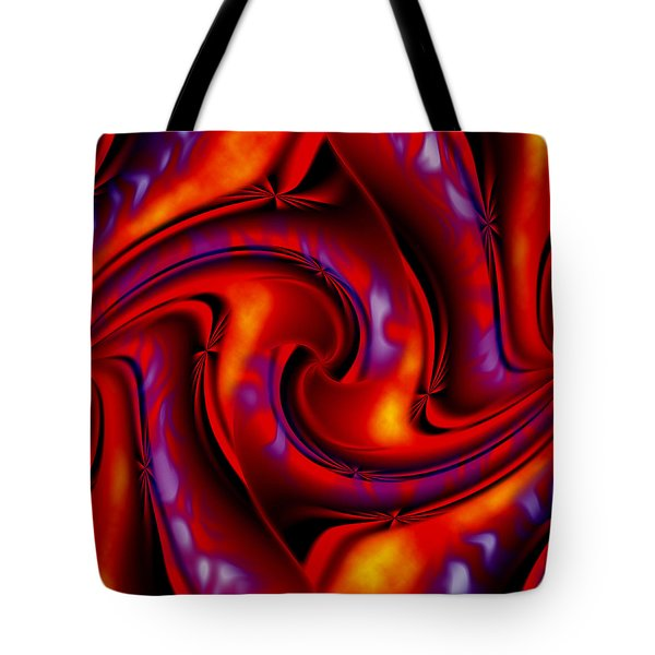 Swirling Fires Tote Bag by Christopher Gaston