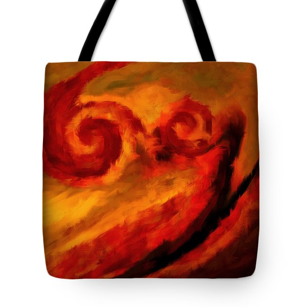 Swirling Hues Tote Bag by Lourry Legarde