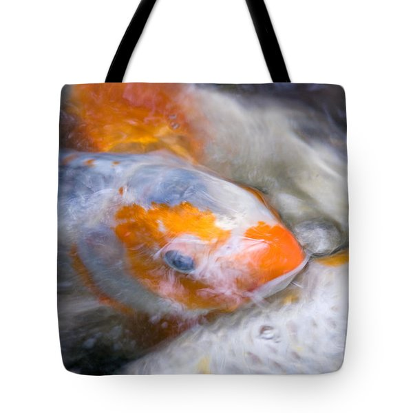 Swirling Koi Carp Tote Bag