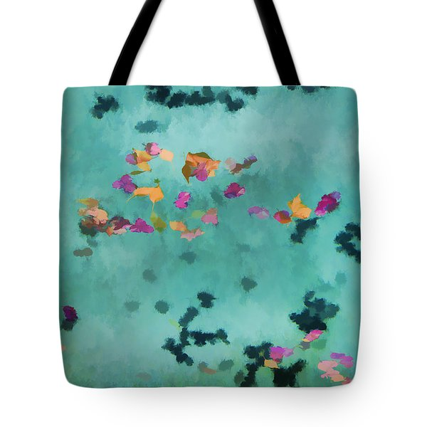 Swirling Leaves And Petals 1 Tote Bag by Scott Campbell
