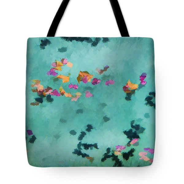 Swirling Leaves And Petals 5 Tote Bag by Scott Campbell