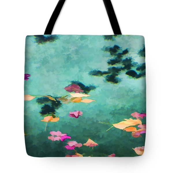 Swirling Leaves And Petals 6 Tote Bag