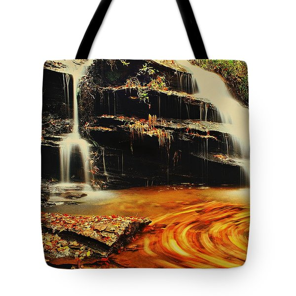 Swirling Leaves Tote Bag