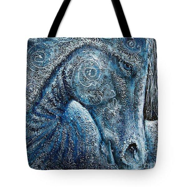 Swirling Spiraling Snow Tote Bag