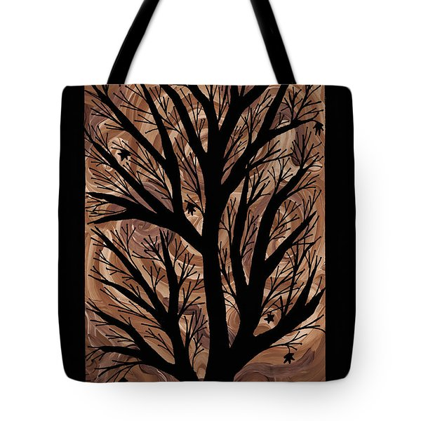 Swirling Sugar Maple Tote Bag by Barbara St Jean