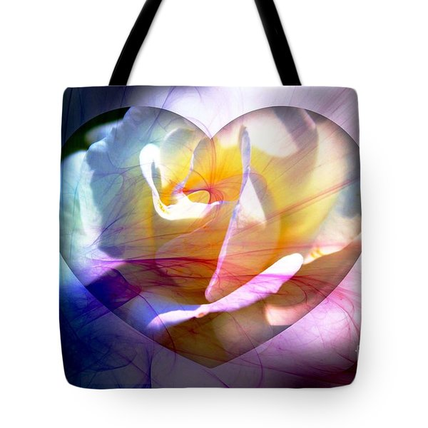 Swirls Of Love And Hope Tote Bag by Judy Palkimas