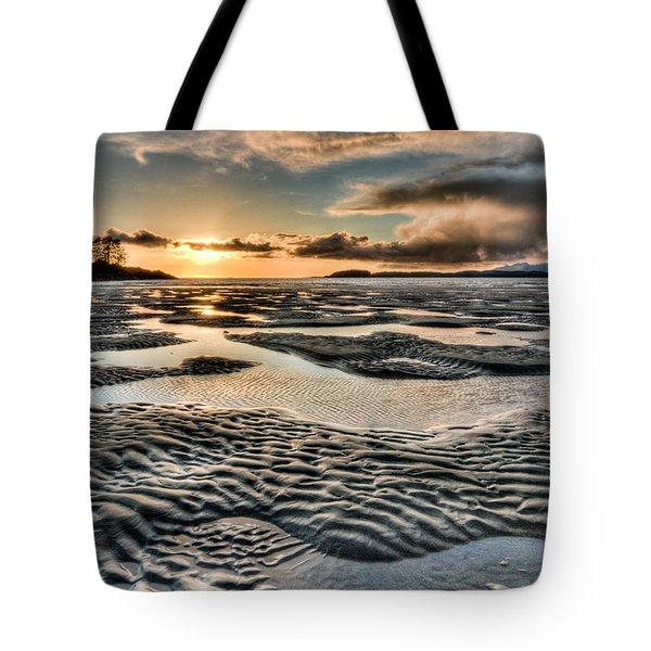 Swirly Cloud Beach Tote Bag