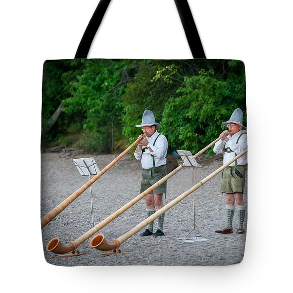 Swiss Alpine Horns Lake Mcdonald Glacier National Park Tote Bag