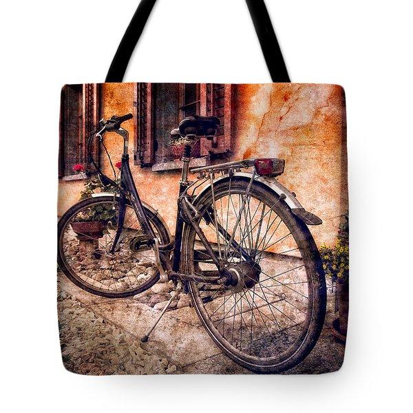 Swiss Bicycle Tote Bag by Debra and Dave Vanderlaan