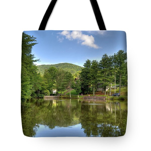 Swiss Mountain Lake Tote Bag