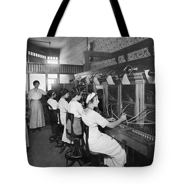 Switchboard Operators Tote Bag by Underwood Archives