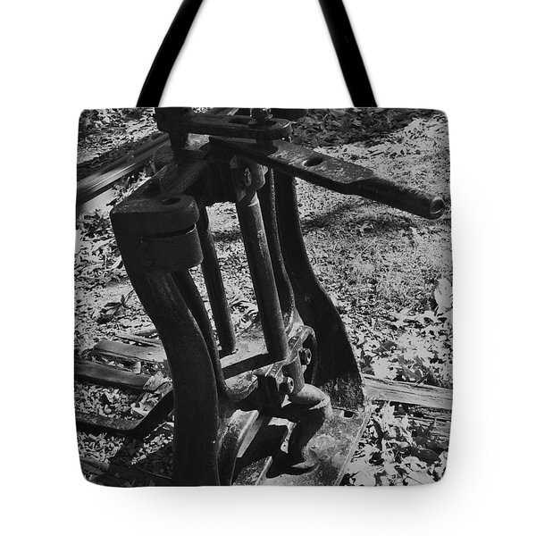 Tote Bag featuring the photograph Switching Tracks by Sara  Raber