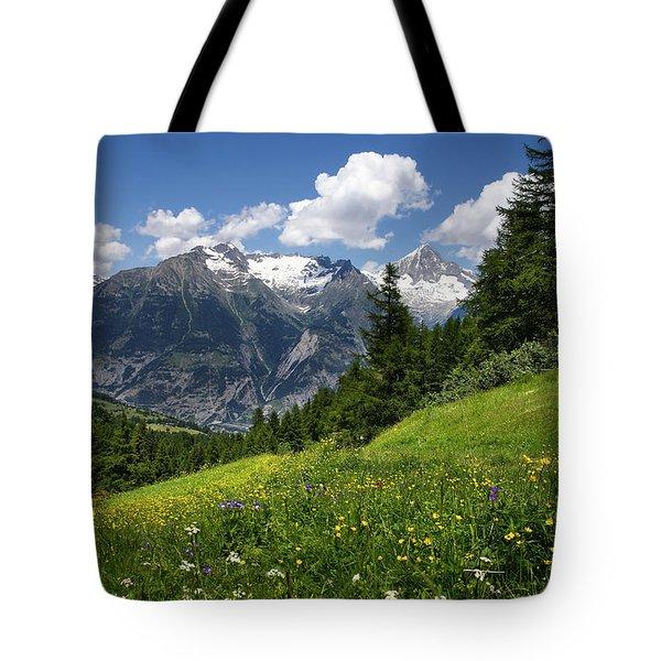 Switzerland Bietschhorn Tote Bag