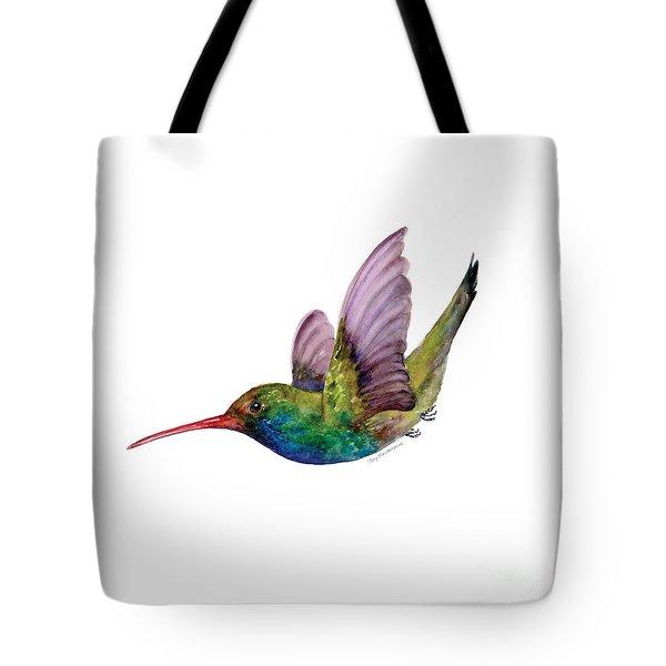Swooping Broad Billed Hummingbird Tote Bag