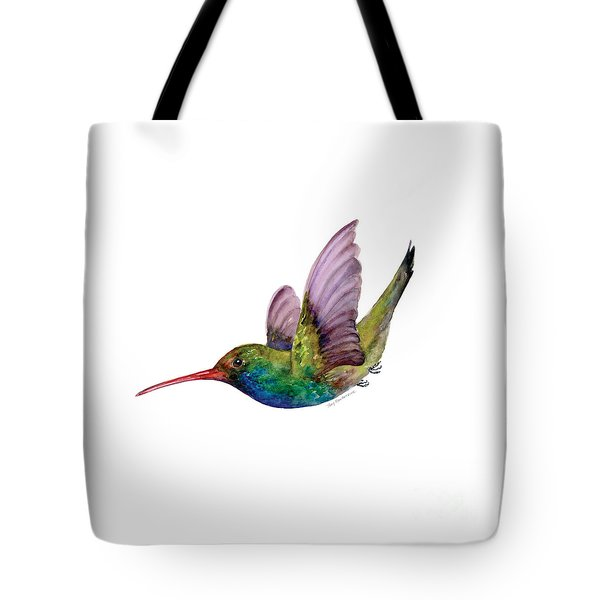 Swooping Broad Billed Hummingbird Tote Bag by Amy Kirkpatrick