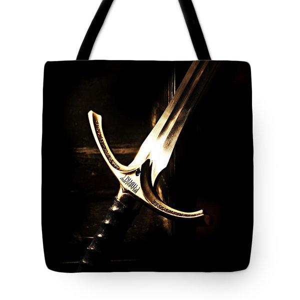 Sword Of Gandalf Tote Bag by Christopher Gaston