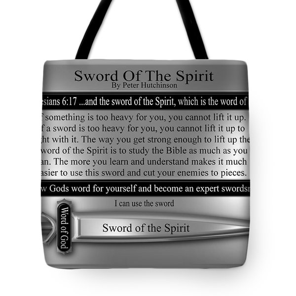 Sword Of The Spirit Tote Bag