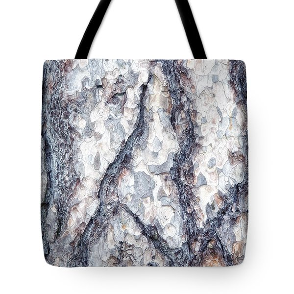 Sycamore Bark Abstract Tote Bag