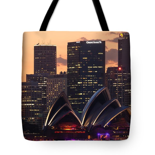 Sydney At Sunset Tote Bag by Matteo Colombo