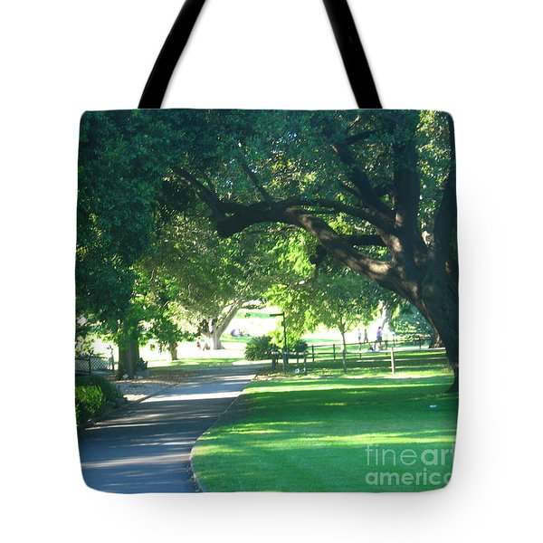 Tote Bag featuring the photograph Sydney Botanical Gardens Walk by Leanne Seymour