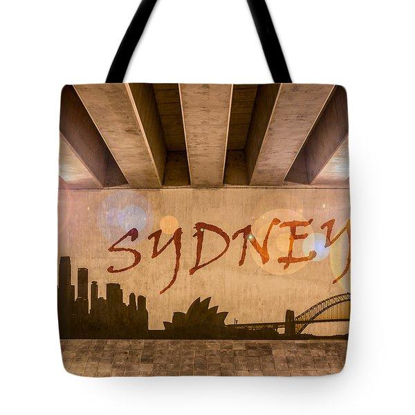 Sydney Graffiti Skyline Tote Bag by Semmick Photo
