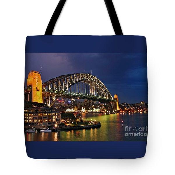 Sydney Harbour Bridge By Night Tote Bag
